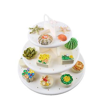 3 Tier Wedding Birthday Party Cake Cupcake Stand Dessert Display Lollipop Holder
