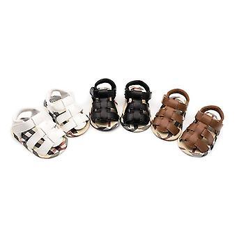 Vauvan kesänahkakengät, liukumaton hengittävä vastasyntyneiden sandaalit Taapero jalkineet