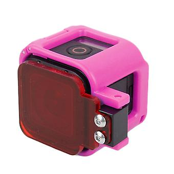 TMC Low-profile Frame Mount with Filter for GoPro HERO5 Session /HERO4 Session /HERO Session(Pink)