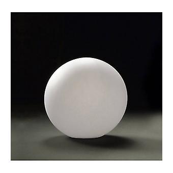 Table Lamp Huevo Ball 1 Bulb E27 Small Outdoor Ip65, Opal White