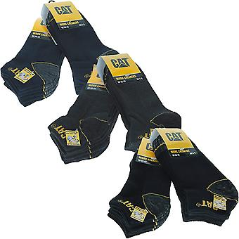 6 pares de CAT Caterpillar Heavy Duty Industrial Workwear Trainer Calcetines tobillo