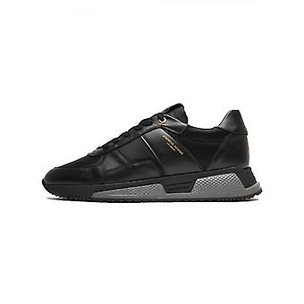 Android Homme Black Leather Nylon Matador Sneaker