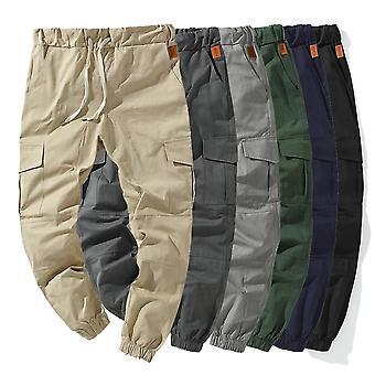 Módní cargo kalhoty pánské elastické pasové kalhoty hip hop harémové kalhoty