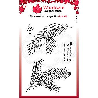 Woodware Clear Stamps - Ramo de Pinheiros Esboçados