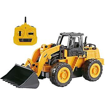 ❤FULLY FUNCTIONAL: Introducing Top Race 5 channel Fully Functional Kids Size RC Front Loader Bulldozer with forwarding, Backward, Left, Right, Shovel Up and Down functions. The simulated design gives a real feeling, like driving the real one. ❤DESIGNED F