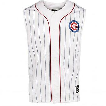 Majestic Mens Chicago Cubs Sleeveless Tank Training Gym Vest A1CCS6021