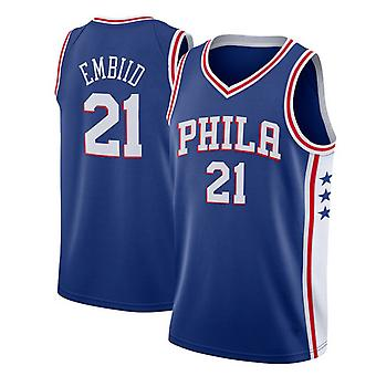 Philadelphia 76ers No.21 Embiid Loose Basketball Jersey Sport shirts 3QY006