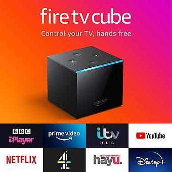 Vuur tv-kubus | handsfree met alexa, 4k ultra hd streaming media player fire tv cube