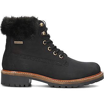 Da stiefel preto nubuc wl botas de renda