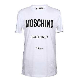 Moschino A071920401001 Men's White Cotton T-shirt