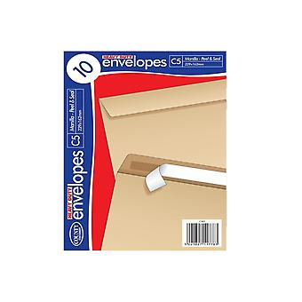 County Stationery Heavy Duty C5 Self Seal Manilla Envelope (Pack of 10)