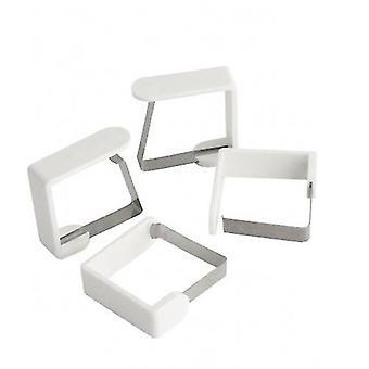 Tischtuchklammern 4 Stück Weiß 45 Mm