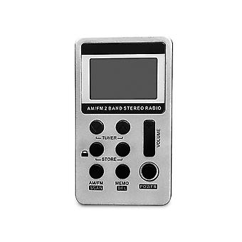 Μίνι τσέπη FM AM 2 ψηφιακή ζώνη LCD στερεοφωνικό ραδιόφωνο με ακουστικό