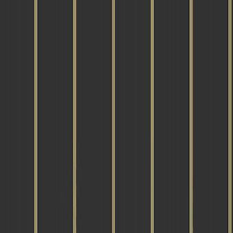 Cabaret Stripe Black Wallpaper