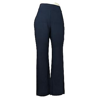 IMAN Women's Pants 360 Slim Ponte Boot-Cut Navy Blue 722-482