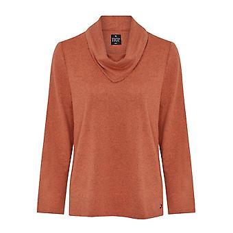 TIGI Pumpkin Orange Cowl Neck Top