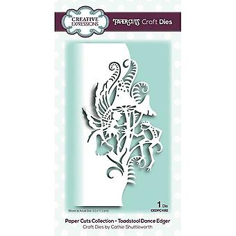 Creative Expressions Paper Cuts Collection Cutting Dies - Toadstool Dance Edger