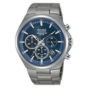 Uhr Pulsar PZ5095X1 - SPORT Chronograph/Dateur grau Stahl Armband und Stahl grau Stahl grau Männer