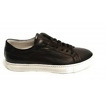 Men's Shoes Sneaker Yox By Nicola Barbato In Diving Leather Col. Moro Head Us18nb11