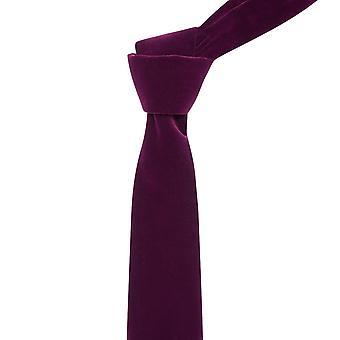 Cravatta in velluto viola melanzana