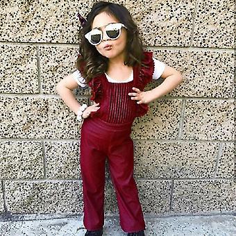 طفل صغير بلا ظهر بيب السراويل رومبر Jumpsuit ملابس الزي