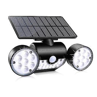30 Leds بالطاقة الشمسية تعمل بالطاقة مصباح الطاقة محمولة على الجدار في الهواء الطلق ضوء اعتماد استشعار حركة بير