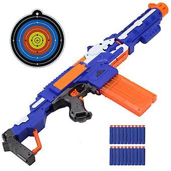 Arma de brinquedo de plástico com balas de cabeça macia e alvo