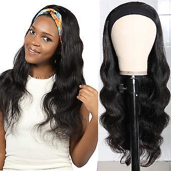 Body Wave Human Hair Wigs Headband Wig Virgin Remy Scarf Wigs