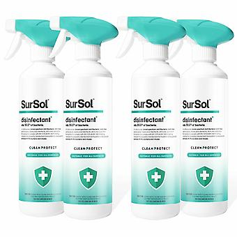 Sursol Clean + Protect Disinfectant For All Surfaces, 4 Pack, 500ml