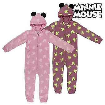Children's pyjama minnie mouse pink with hood
