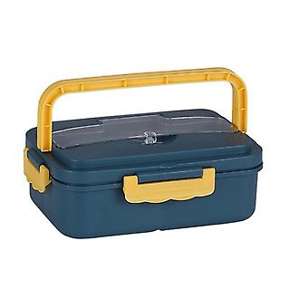 Portable Fold Bento Box Heated Container Capacity Office Worker Stackable Lunch Box
