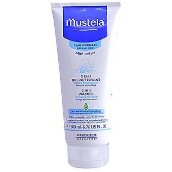 Mustela 2 in 1 Cleansing Gel Hair and Body 200 ml