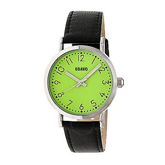 Crayo Pride Lime Dial Black Leather Watch CRACR3804