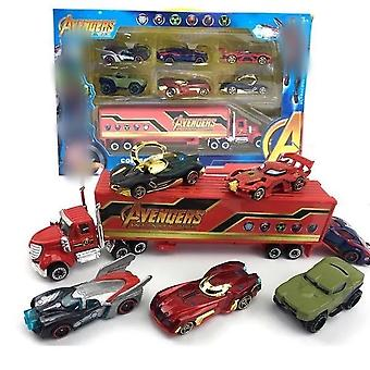 6ks / šarže Batmen Ironman Hulk Mini Car Toy Children's Dárková sada