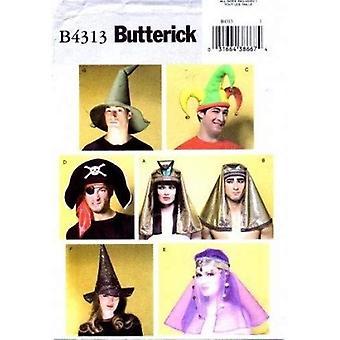 Butterick Syning Mønster 4313 Misser Voksen Kostume Hovedbeklædning Hatte