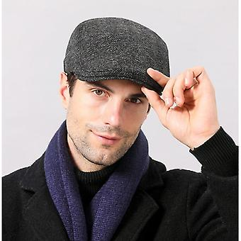 Warm Berets Newsboy Tweed Flat Cap