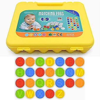 26pcs Letters Sturdy Matching Eggs Toy For Toddler, Alphabet Puzzle