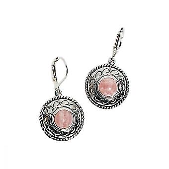 Solid silver and natural stone earrings