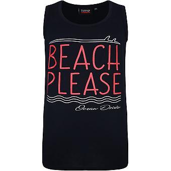 ESPIONAGE Espionage Mens Big Size Beach Theme Print Cotton Vest