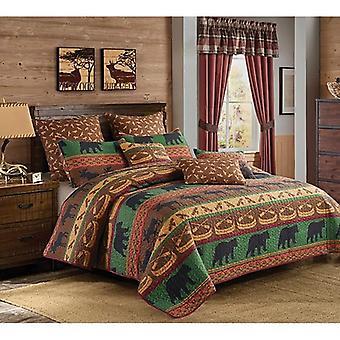 Spura Home Pictorial Lodge Preserve Contemporary Quilt Set