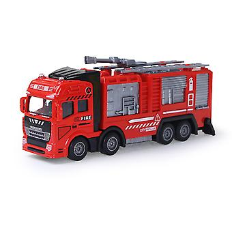 Children's pull back alloy Fire rescue vehicle, with light and music