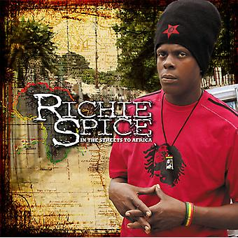 Richie Spice - In the Streets to Africa [CD] USA import