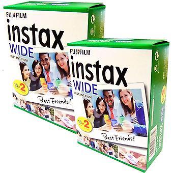 Fuji Instax Wide Film Belichtung für Polaroid 210 200, 40 Stück