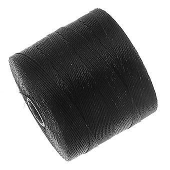 Super-Lon (S-Lon) Micro Macrame Twisted Nylon Cord - Black / 287 Yard Spool