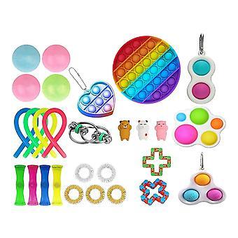 28st Pack Fidget Leksaker Sensory Toy Set Antistress Relief Fidget Leksaker