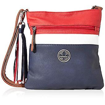 Rieker Handtasche, Naisten laukku, Sininen (Pazifik/Valkoinen/Punainen), 240x10x220 senttimetriä (B x K x T)