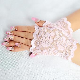 женщины Винтаж Потрясающие готические солнцезащитные кружевные перчатки