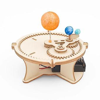 Kreatywność Child Technology Make DIY Earth Puzzle Science Experiment Edukacyjne Zabawki Bloki rodziców