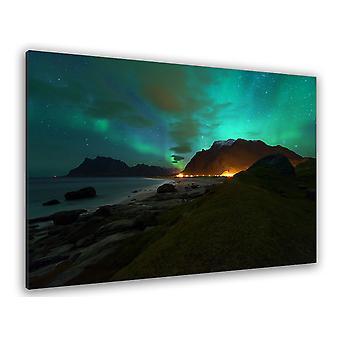 Noorwegen tafel aurora borealis