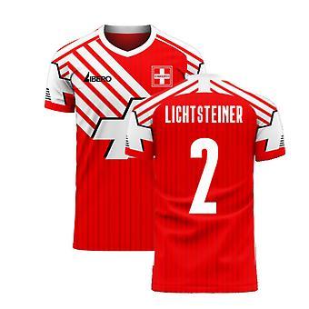 Szwajcaria 2020-2021 Retro Concept Football Kit (Libero) (LICHTSTEINER 2)